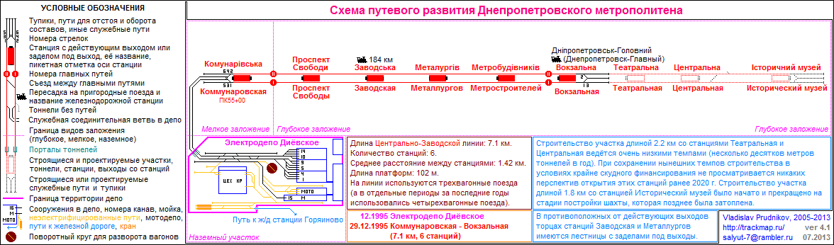 Dnepropetrovsk Metro Track Map